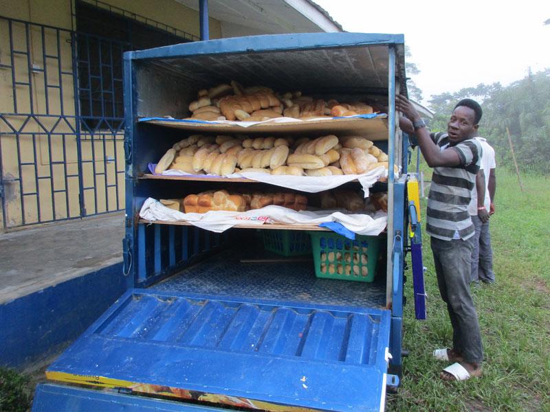 Bakery Vehicle zur Auslieferung