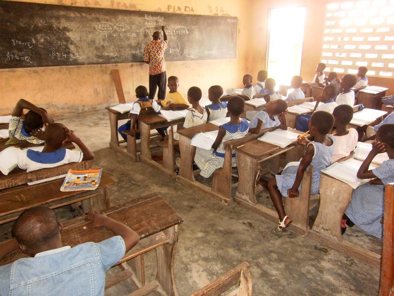 Unterricht in einer Grundschule in Kukurantuni