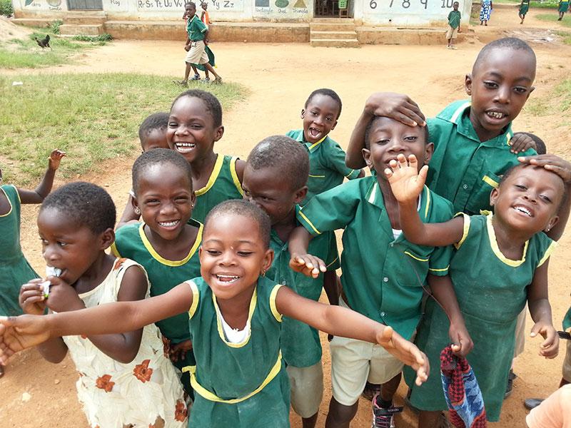 Schulkinder der Zion Grundschule