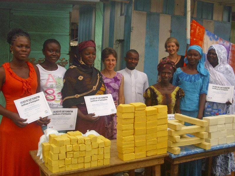Workshop Seifenherstellung in Mpraeso