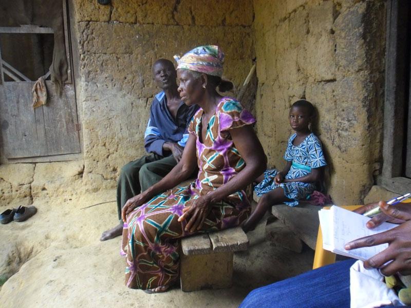 Bei einer Schülerin in Obodanase