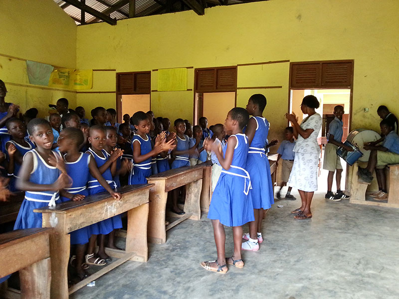 Worship Presby School in Kukurantumi