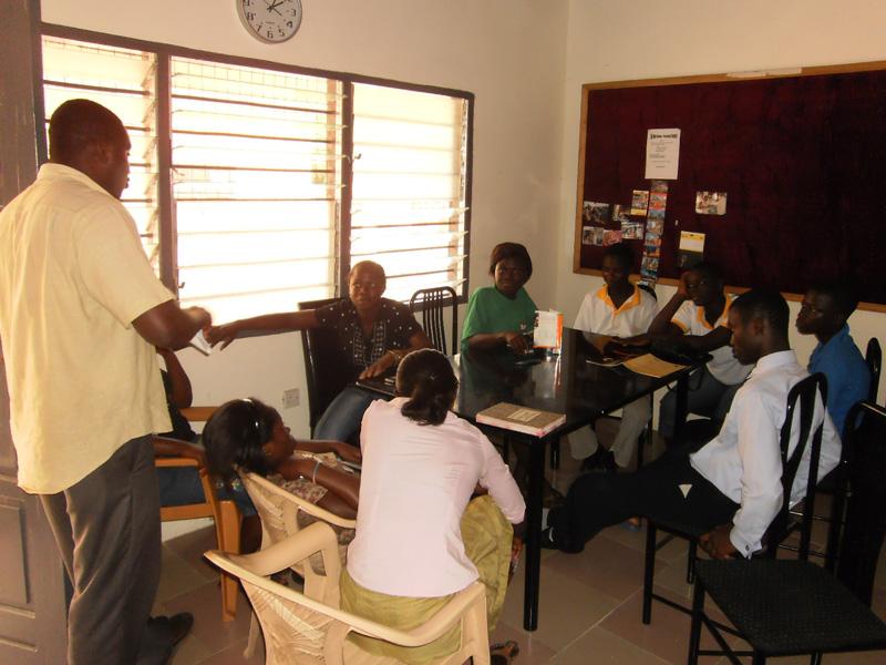 Monatliches Treffen mit den Auszubildenden